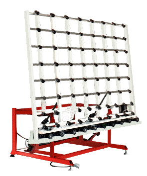 Glass handling transfering tables conveyors feature for Table th means