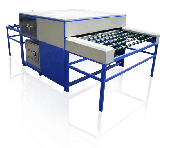 Insulated Glass Assembly : Washing assembly pressing insulating line with aluminum